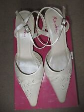 Rainbow Club Ivory Satin Wedding Shoes  'Florence' Size 7