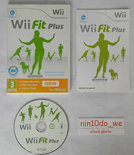 Wii FIT PLUS=HEALTH EXERCISE YOGA+FITNESS GAME-REQUIRES BALANCE BOARD=NEAR MINT✔