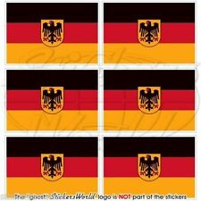 ALLEMAGNE Allemand Deutsch Etat DrapeauCellule Téléphone Autocollants  40mm x6