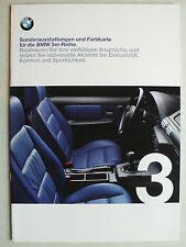 Prospekt BMW 3er Reihe E 36 Sonderausstattungen und Farbkarte, 1.1999, 28 Seiten