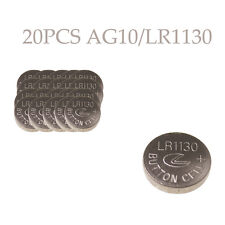 20Pcs AG10 LR1130 389A LR54 L1131 189 Alkaline Cell Button Battery