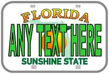 Personalised Birthday Gift, Novelty Number Plates,Personal Florida Licence Plate