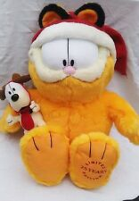 """GARFIELD ODIE 25 YEARS LIMITED EDITION CHRISTMAS PLUSH DOLL TOY MACY'S 17"""" GUC"""