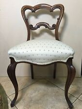"Antique English Victorian Walnut Dining Chair-Fine Quality, 33"" T x 19"" Widest"