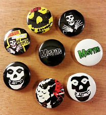 8 piece lot of Misfits pins buttons badges