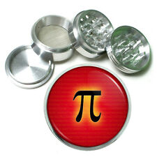 "Pi Signs D6 Aluminum Herb Grinder 2.5"" 63mm 4 Piece Mathematical Constant"