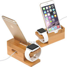 Bamboo Charge Dock Station Charger Holder Stand For Huawei Watch Huawei P9 P8 P7