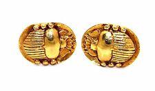 Vintage SIGNED Modernist Gold Filled? Art Deco EGYPTIAN REVIVAL BEETLE Cufflinks