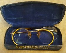 Vintage Shuron Durex 12k Gold Filled Men's Wire Eyeglasses Frames w/Case