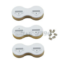 3pcs/lot Plastic FCS Fusion Fin Box Surfboard Fins Surfing Plugs Set White