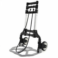 70KG ALUMINIUM SACK TRUCK FOLDING HAND CART WHEEL TROLLEY HEAVY DUTY INDUSTRIAL