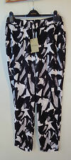 Bandolera new black & white designer Euro long pants size 14/40 NWT