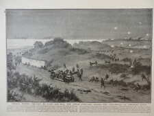 1914 BELGIAN DEFENCE OF THE SAND DUNES AT NIEUPORT BAINS ROYAL NAVY GUNS WWI WW1