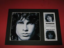 JIM MORRISON THE DOORS A4 PHOTO MOUNT SIGNED PRINTED AUTOGRAPHS LA WOMAN HOTEL