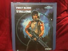 Vintage RCA Videodisc Video Disc Classic 1983 Rambo First Blood Stallone Art+