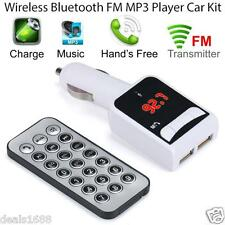 Wireless Bluetooth Hands free Car Kit MP3 Remote USB Auto FM Transmitter AUX SD