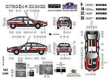 [FFSMC Productions] Decals 1/43 Citroën CX 2400 GTi Acropolis Rally 1978