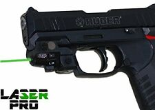 Compact Green Rechargeable Laser Sight for Hand Gun Pistols w/ a Rail + Charger