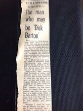 m1-5 ephemera 1949 Article Dick Barton Radio Show Audition Stanley Beard