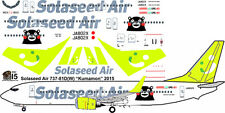 Solaseed Kumamon the Bear Boeing 737-800 decals for Revell 1/144 kit