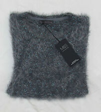 LADIES MARKS AND SPENCER NIGHTSHADE SUPER SOFT YARN SEQUIN FLUFFY JUMPER SIZE 18