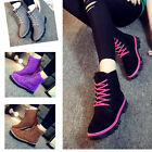 Womens Ankle Boots Fur Winter Warm Thicken Shoes Snow Boot 5 color