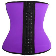 Women's Steel Boned Black Shapewear Waist Trainer Cincher Corset Body Shaper S1