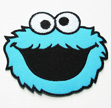 COOKIE MONSTER Sesame Street Movie Embroidered Iron On Patch Appliques Cartoon *