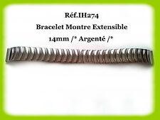 BRACELET MONTRE EXTENSIBLE /* ARGENTÉ /* 14mm REF.IH274
