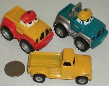 "Pickup 3pc Group #39 -2 Cartoon & 1 Tonka Replica Trucks 3"" USED -SEE PHOTO"