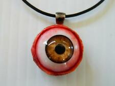 Halloween Horror Prop -  EYEBALL Pendant for costume or cos play! (Brown)