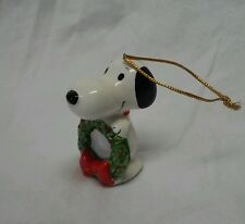 Vintage Made in Japan Ceramic Snoopy Christmas Ornament see pics Excellent