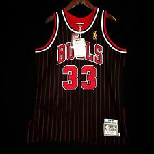 100% Authentic Mitchell Ness Scottie Pippen Bulls Pinstripe Jersey 44 L - jordan
