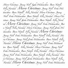 Unmounted rubber stamp European Christmas Text Square - SA-8010