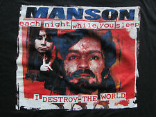 DS vintage Charles Manson Charlie t-shirt serial killer criminal 90's XL NWOT