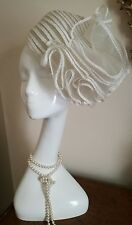 Authentic Christian Dior Licence Vintage Chapeaux Ivory White Hat Stunning!