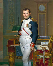 Napoleon Bonaparte French Painting War Military History Real Canvas Art Print