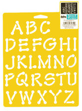 ALPHABET STENCIL WHIMSICAL DOT CRAFT LETTER SCRAPBOOK ART TEMPLATE NEW BY DELTA