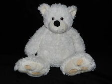 TESCO TEDDY BEAR SOFT TOY CREAM WHITE CHUBBY COMFORTER DOUDOU