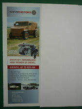 2/2011 PUB STEYR MOTORS M 16 SCI M-1 MONOBLOCK HIGH POWER DI-DIESEL ORIGINAL AD