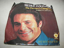 Merle Haggard Soldier's Last Letter / The Farmer's Daughter 45 EX PRO-6139 PROMO