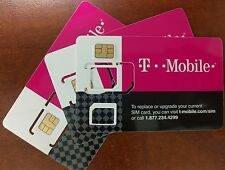 NEW T-Mobile 4G LTE Sim Card Tmobile 3 IN 1 TRIPLE CUT.  Nano, Micro or Standard