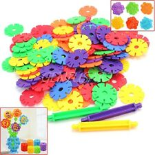 113Pcs Baby Child Educational Multicolor Snowflake Building Blocks Gift Toy