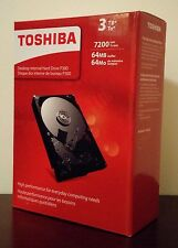 "BRAND NEW Retail Toshiba 3TB SATA 3.0 6Gb/s 7200rpm 3.5"" Internal Hard Drive"
