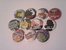 11 George A Romero button Badges Night Day Dawn of the Living Dead Martin Zombie