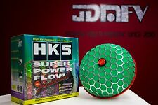 HKS 80mm Turbo Air Inlet Filter GREEN JDM Super Power Flow Reloaded CAI 3""