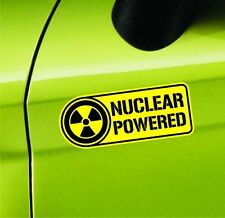 Nuclear Powered Sticker Set Vinyl Decal Label Car Sticker Nuke Radio Active Jeep
