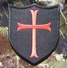 CROSS CRUSADER SHIELD NAVY SEAL DEVGRU RED SWAT VELCRO® BRAND FASTENER PATCH