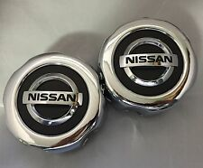 2 (TW0) NEW NISSAN Pathfinder Frontier wheel center hub caps, 40315 89P15 CHROME