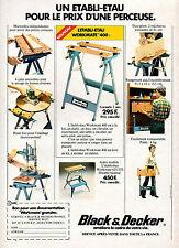 Publicité 1977  Black & Decker l'établi-étau Workmate 400